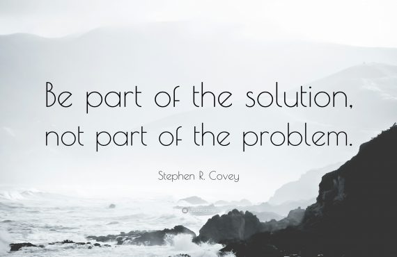 BE A PART OF THE SOLUTION